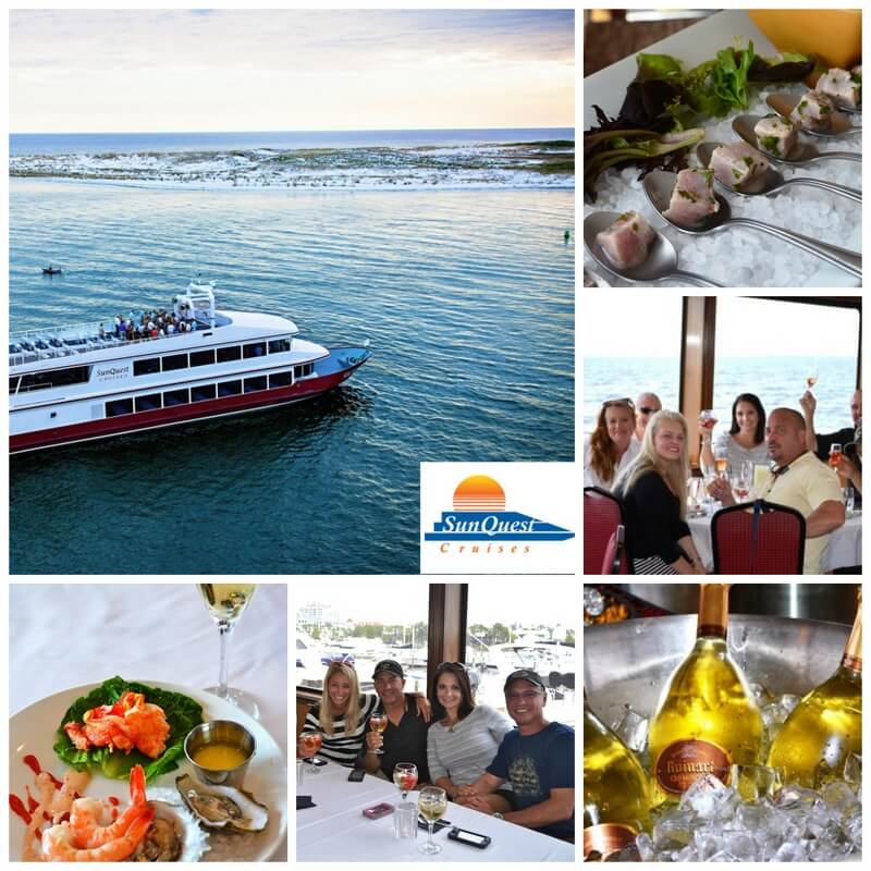 sandestin wine festival cruise collage